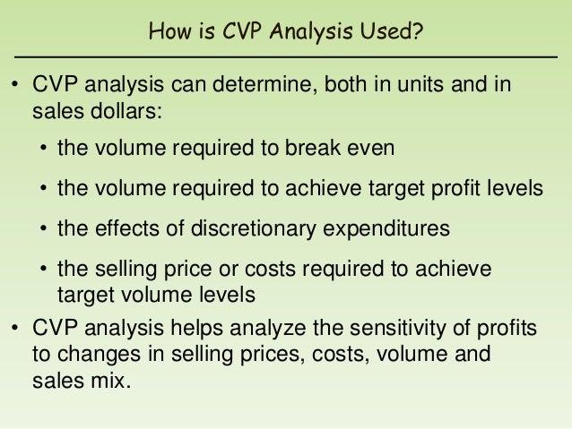 importance of cost volume profit analysis pdf