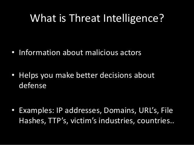 Threat Intelligence With Open Source Tools Cornerstones