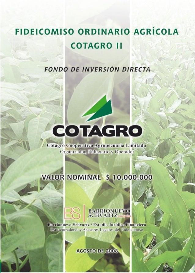 Fernando Schvartz - Cotagro ii   folleto