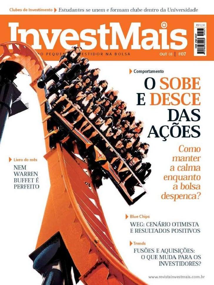 Cotação De Ações Da Bolsa Bovespa Revista Invest Mais www.editoraquantum.com.br