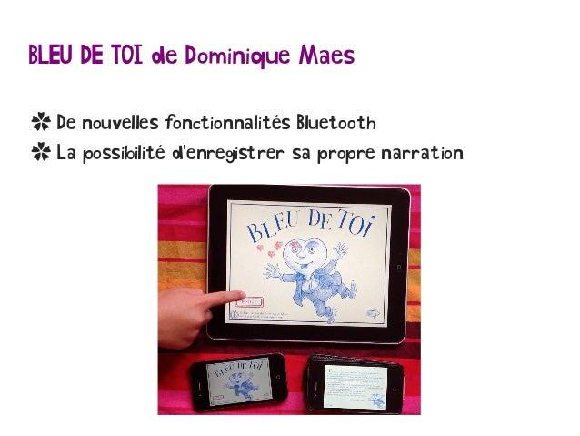 BLEU DE TOI de Dominique Maes ✿ De nouvelles fonctionnalités Bluetooth ✿ La possibilité d'enregistrer sa propre narration