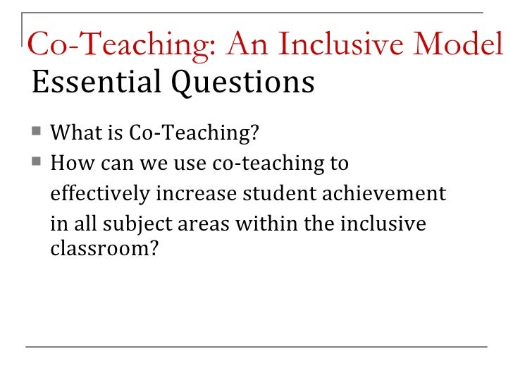 Collaborative Co Teaching Model : Coteaching psu