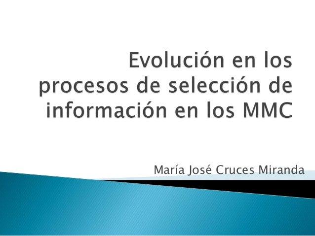 María José Cruces Miranda