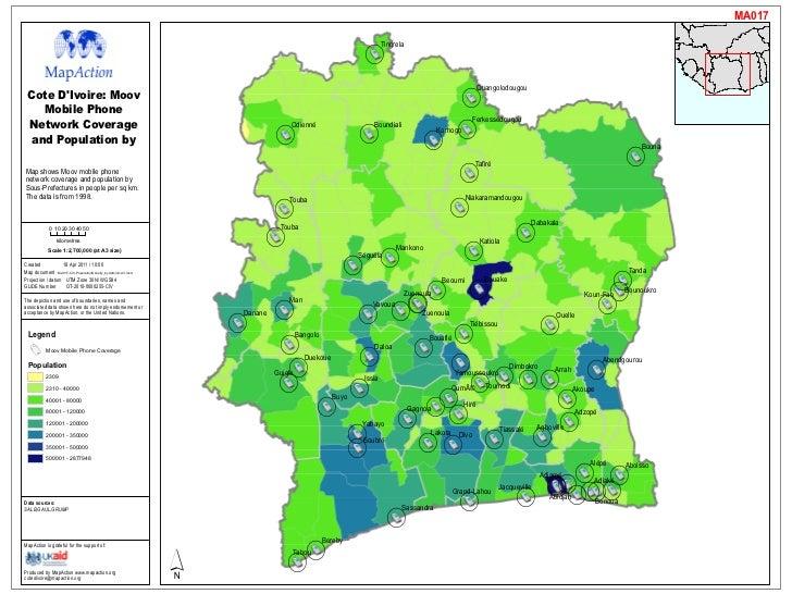 Cote Divoire Maps Infoasaid MapAction - Cote d'ivoire map