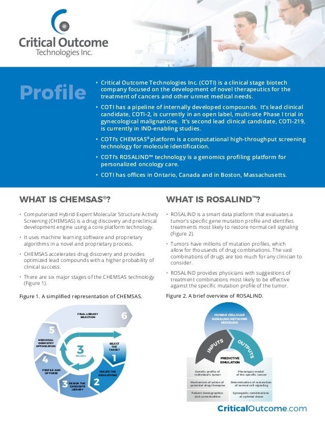 WHAT IS CHEMSAS® ? •	 Computerized Hybrid Expert Molecular Structure Activity Screening (CHEMSAS) is a drug discovery and ...