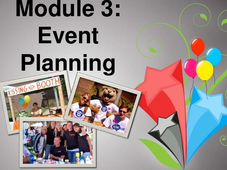 Module 3: Event Planning<br />
