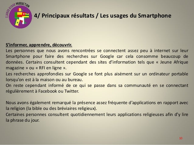 Etude exploratoire internet sur smartphone cotonou - Coupe d afrique en direct sur internet ...