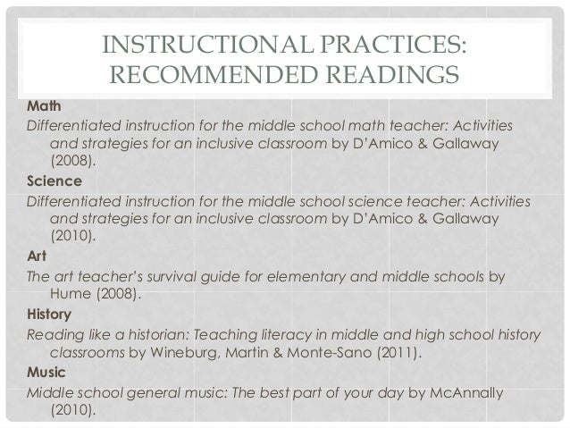 Best Practice In The Middle School Education By Tracey Tokuhama Espi