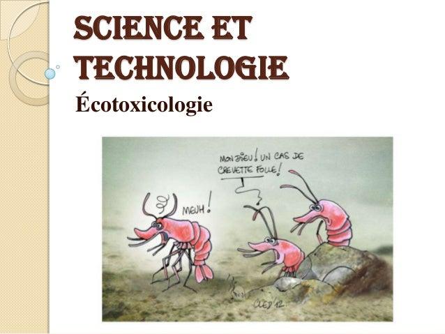 Science et technologie Écotoxicologie