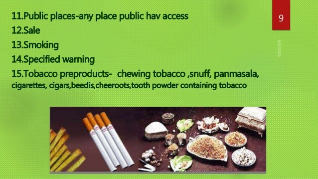 Control of tobacco products act
