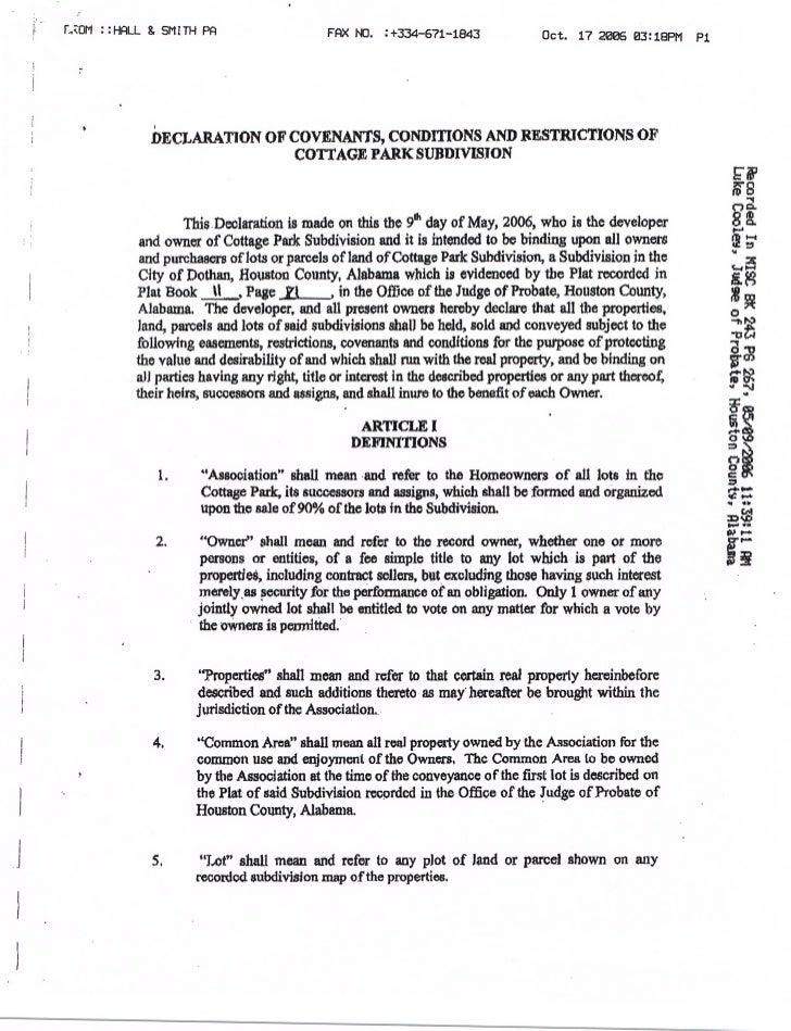 ; : HsRLL & SMITH PA                     FAX   iio.   :+334-671-1843            Oct. 17 2ø6 3: I8PM P1        DECLARATION ...