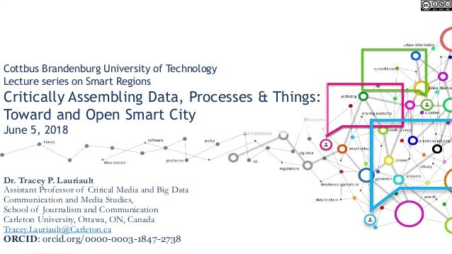 Cottbus Brandenburg University of Technology Lecture series on Smart Regions Critically Assembling Data, Processes & Thing...