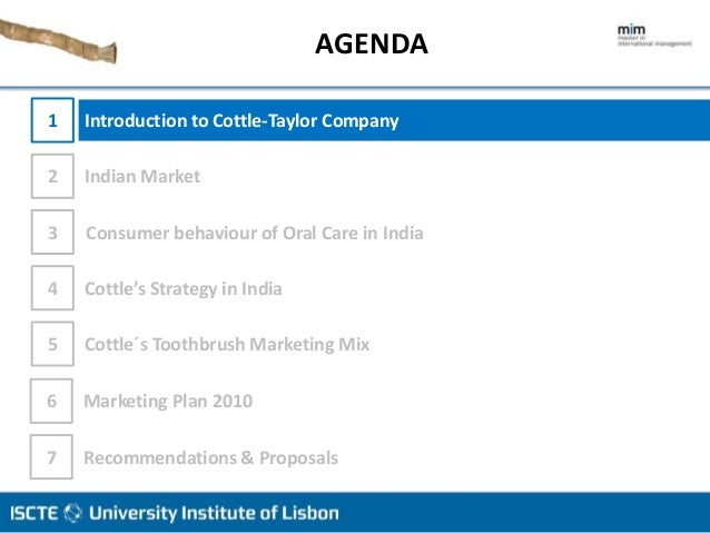 Cottle-Taylor: Expanding the Oral Care Group in India Harvard Case Solution & Analysis
