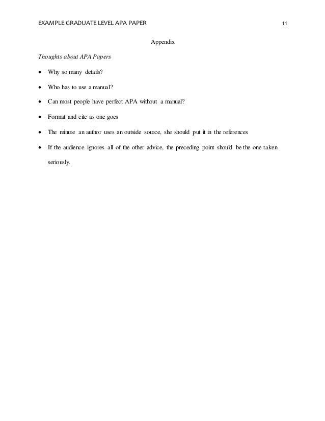 term paper appendix