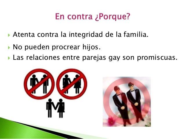 Argumentos legales contra matrimonio homosexual