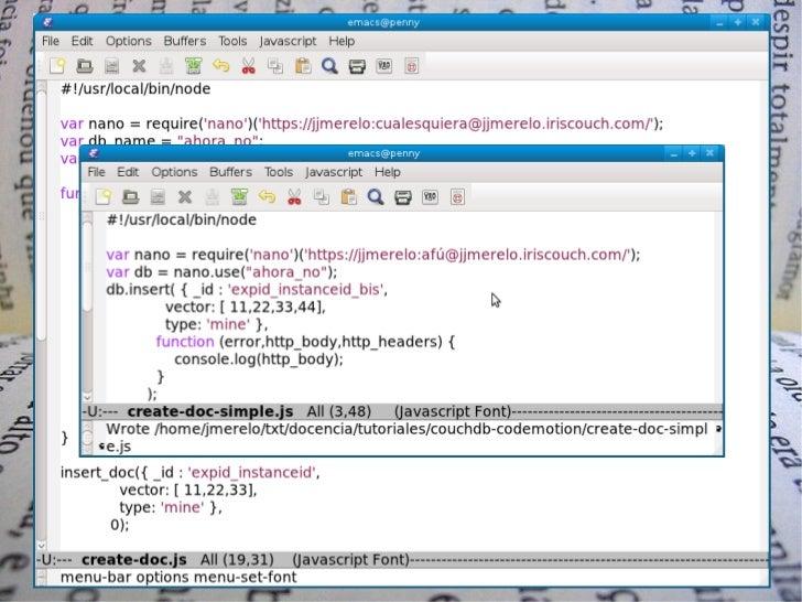 Se acabaron los one-linersComputación voluntaria + @CouchDB by @jjmerelo   25