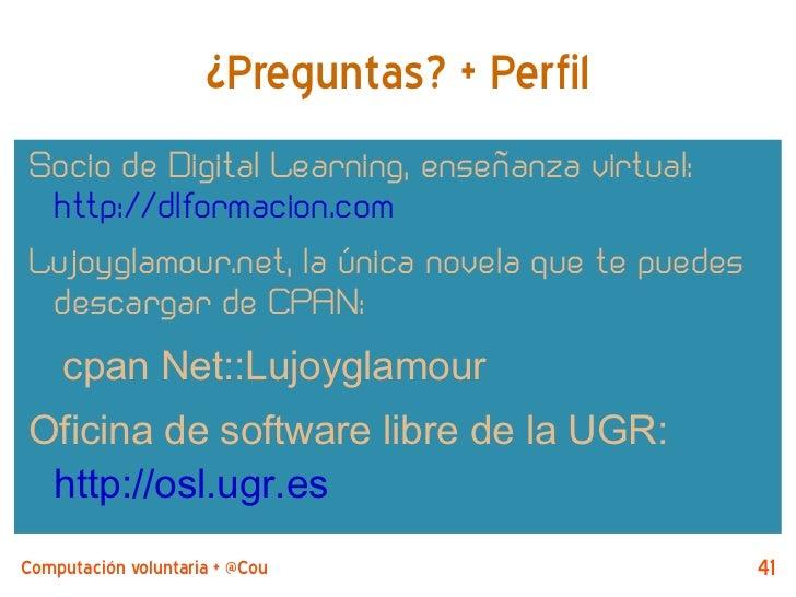 ¿Preguntas? + PerfilSocio de Digital Learning, enseñanza virtual: http://dlformacion.comLujoyglamour.net, la única novela ...