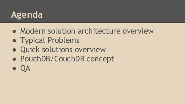 Couch DB/PouchDB approach for hybrid mobile applications Slide 3