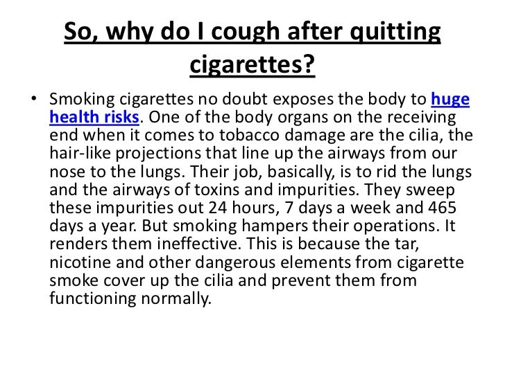 Cough after smoking cigarettes e cigarette helps to quit smoking