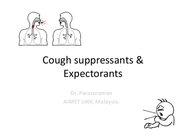 Cough suppressants &ExpectorantsDr. ParasuramanAIMST UNV, Malaysia.
