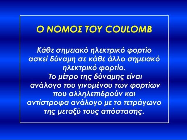 Νόμος του Coulomb Slide 3