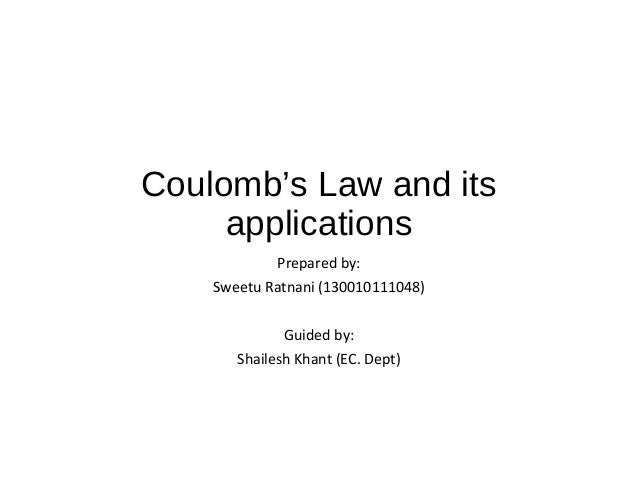 Coulombs law and its applications – Coulombs Law Worksheet