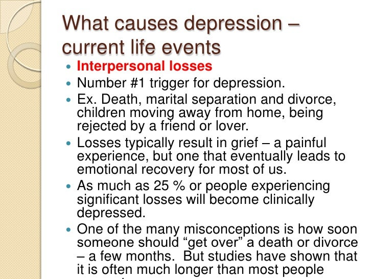 depression caused by divorce Does depression cause divorce as a result of too many responsibilities yes, it can this is a perfect example of depression after pregnancy many women suffer from .