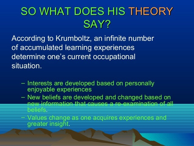 krumboltz learning theory of career counseling