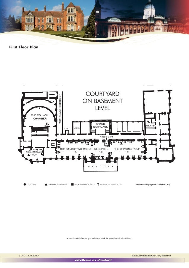 The Birmingham Council House banqueting suite – Council House Floor Plans