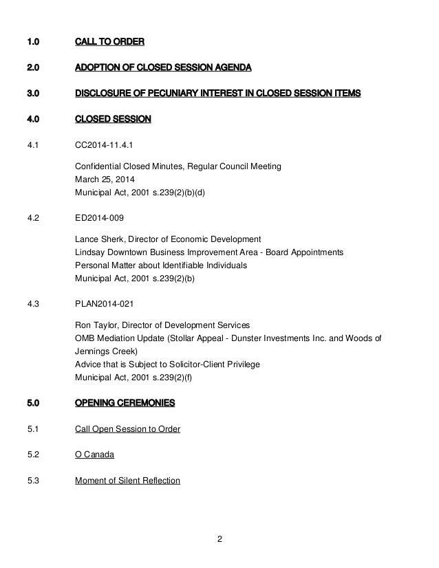Lindsay City Council Minutes