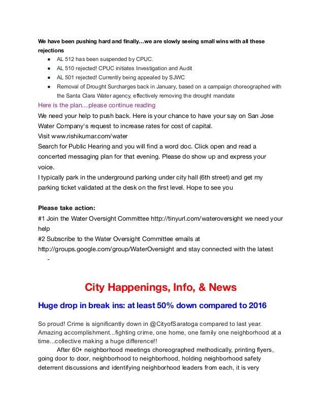 november 2017 newsletter councilmember rishi kumar saratoga