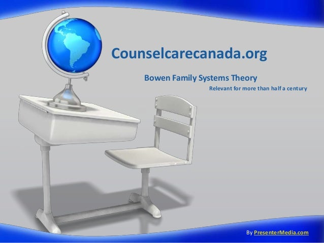 Counselcarecanada.org Bowen Family Systems Theory Relevant for more than half a century By PresenterMedia.com