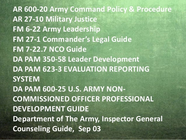 army counseling lying to an nco