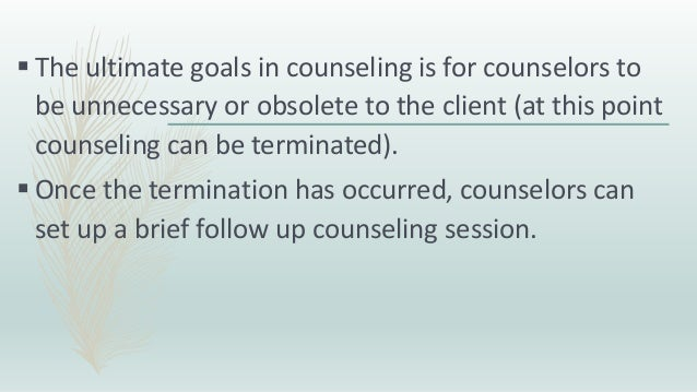 What is the process of counselling?