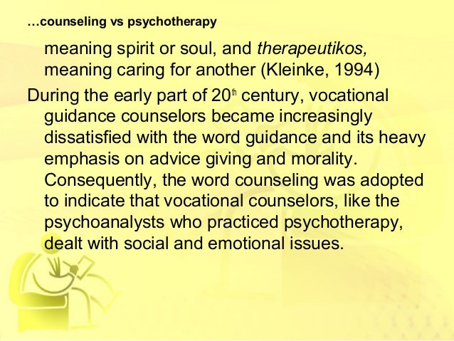 the differences between counselling and psychotherapy Perhaps it's more helpful to consider the differences between a counsellor and a  psychotherapist rather than counselling and psychotherapy - the practitioner.