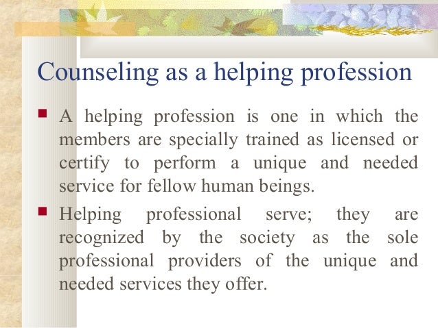 Counselling in the professions