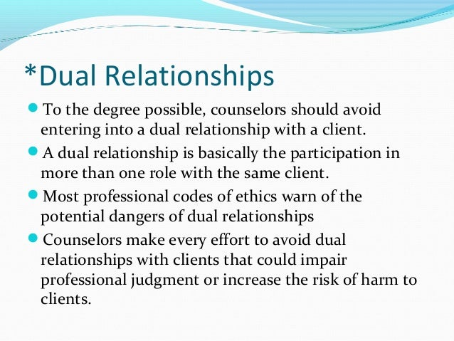 Texas counselor laws on dating a client