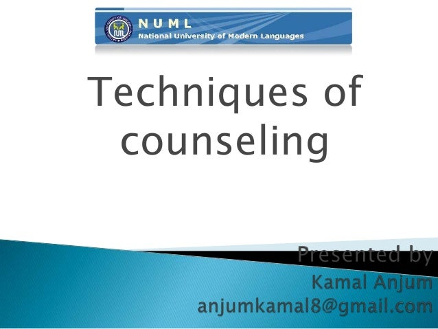 Techniques of counseling