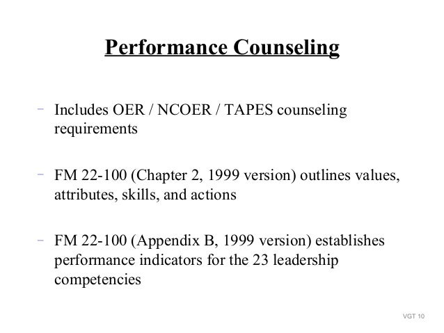 counseling-program-for-a-unit-2-11-638 Oer Performance Objectives Examples on