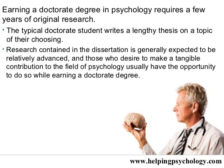 an analysis of the topic of psychology and obtaining a degree in psychology The required degree for licensure is typically a doctor of psychology (psyd) or doctor of philosophy in psychology (phd) your choice of degree will depend on your career goals and whether you want a career in practice (psyd) or in research (phd), or some combination thereof.