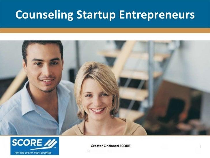Counseling Startup Entrepreneurs