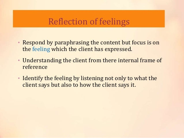 internal frame of reference in counselling