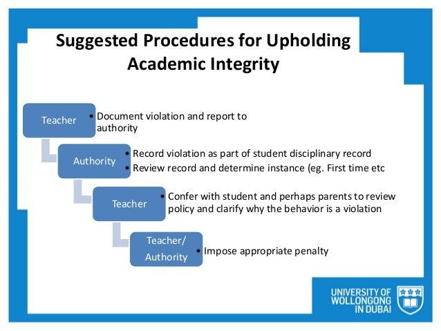 Upholding academic honesty