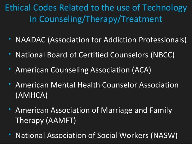 aca codes of ethics and amhca The codes of ethics of the ameri-  (aca, a membership organiza-tion), state licensing boards (which regulate the practice in a given state), and nbcc (a credentialing.