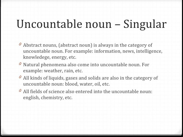 countable and uncountable nouns 2