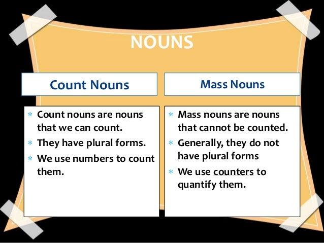 Countable nouns.