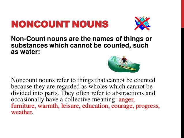Count and non count nouns