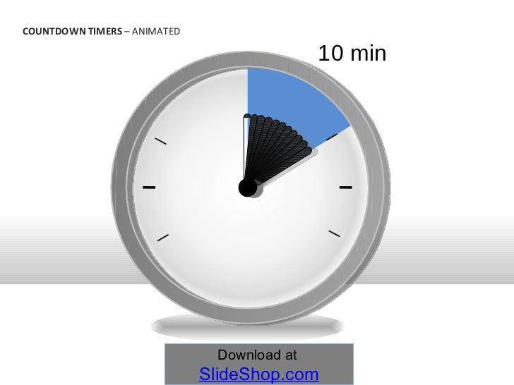 10 min countdown timers animated