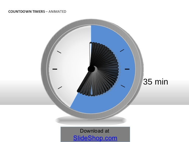 35 min countdown timers animated