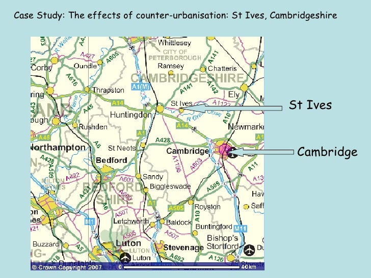 counterurbanisation case study